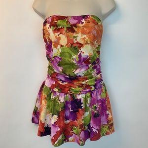 Spiegel Swimsuit 1 Piece Strapless Skirt Dress 10